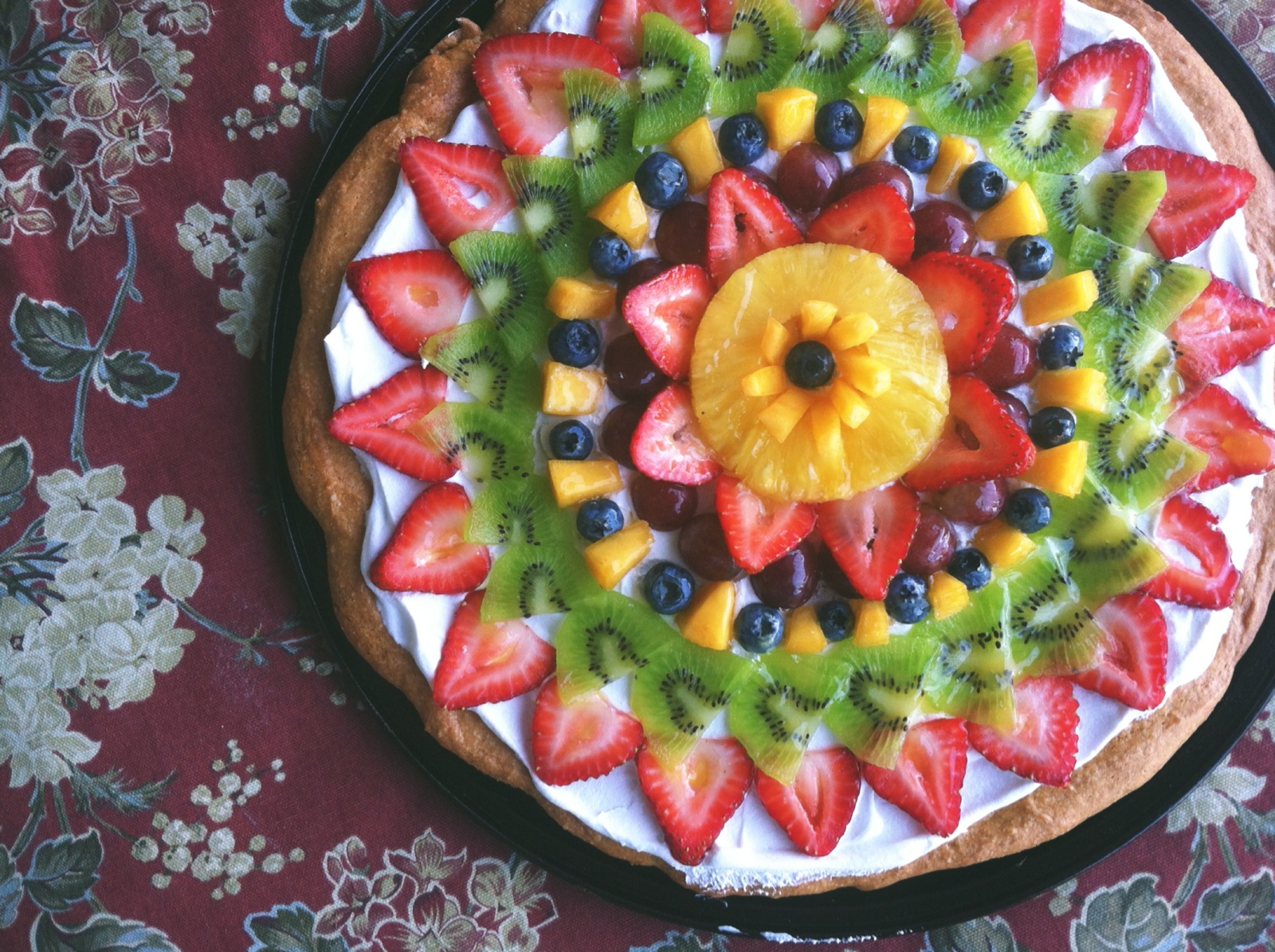 Fruit Pizza | RosyRecipes